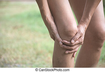 douleur, elle, leg., clings, concept., femail, mauvais, ...
