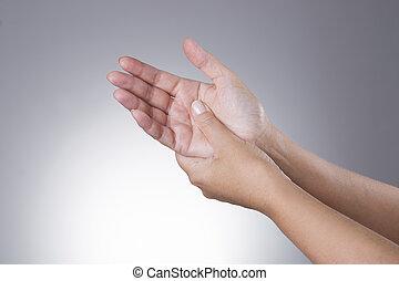douleur, syndrome, tunnel, joints, carpien, hands.