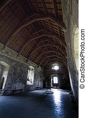 Doune Castle Main Hall - Doune Castle Interiot, Film set for...