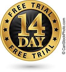 dourado, 14, livre, julgamento, vetorial, etiqueta,...
