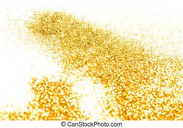 dourado, abstratos, brilhar, experiência.