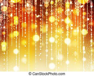 dourado, abstratos, feriado, fundo