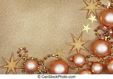 dourado, abstratos, natal, backgroun