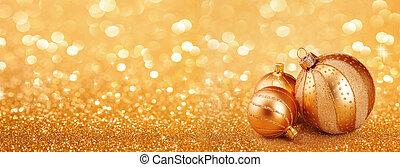 dourado, abstratos, natal, fundo