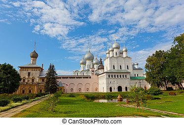 dourado, anel, rússia, rostov, kremlin