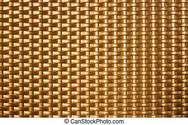 dourado, backgrou, metal, textura, tecer