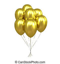 dourado, balões, 7