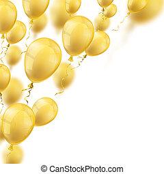 dourado, balões, cobertura