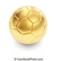 dourado, branca, bola futebol