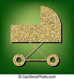 dourado, brilhante, ícone