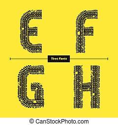 dourado, celta, jogo, alfabeto, estilo, efgh