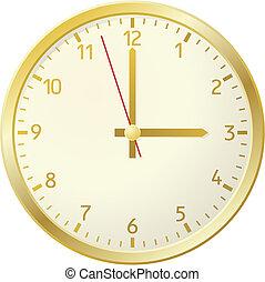 dourado, clock.