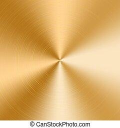 dourado, cone, gradiente
