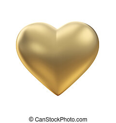 dourado, coração, branco