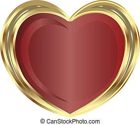 dourado, coração