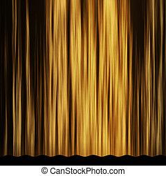 dourado, cortina