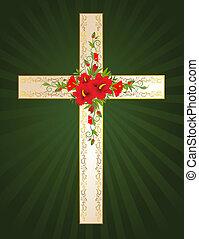 dourado, crucifixos