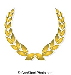 dourado, distinção, laurel