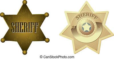 dourado, emblema sheriff