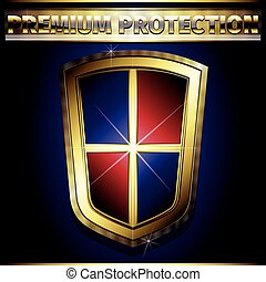 dourado, escudo