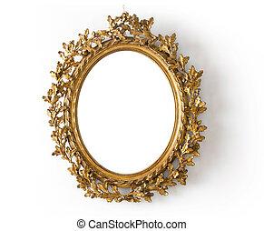 dourado, espelho