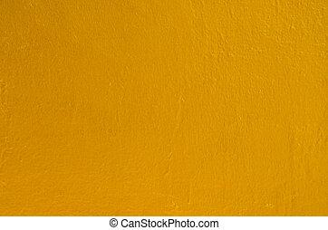 dourado, estátua, pintado, rachado, textura