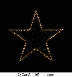 dourado, estrela, ícone