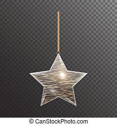 dourado, estrela, natal