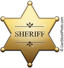 dourado, estrela, xerife