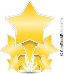 dourado, estrelas