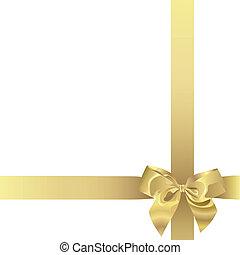 dourado, fita, (illustration)