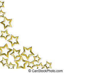 dourado, iluminated, estrelas