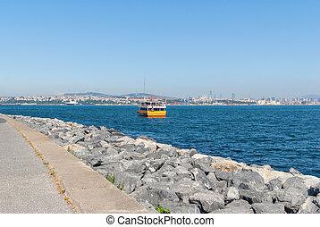 dourado, istambul, chifre, baía, excursão, bote