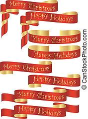 dourado, jogo, acentos, bandeiras, feriado, natal, vermelho