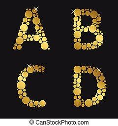 dourado, jogo, letra
