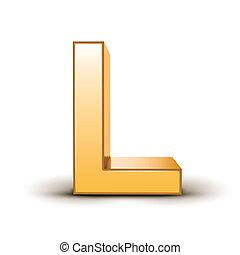 dourado, l, letra