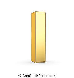 dourado, letra, branco