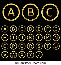 dourado, letras