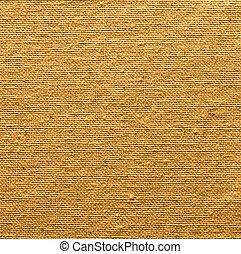 dourado, linho, textura, para, a, fundo