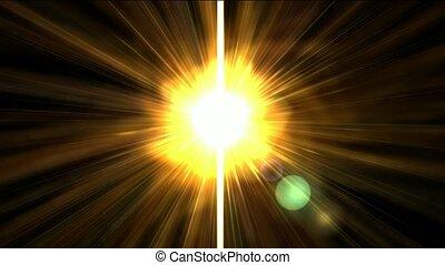 dourado, luz solar, volta