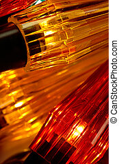 dourado, luzes, fundo