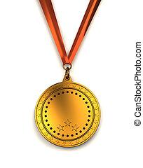 dourado, medalha