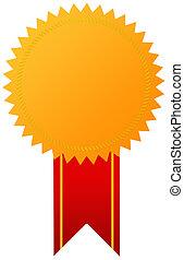 dourado, medalha, distinção