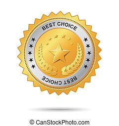 dourado, melhor, label., escolha