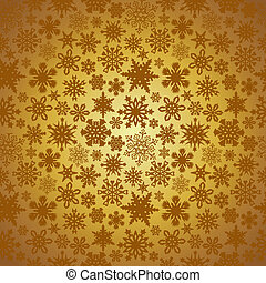 dourado, natal, snowflakes, fundo