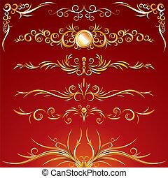 dourado, ornamento