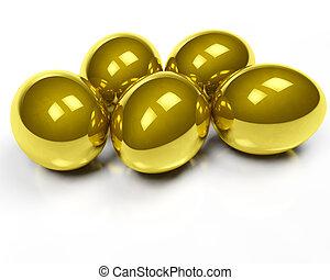 dourado, ovos