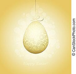dourado, Páscoa, ovo