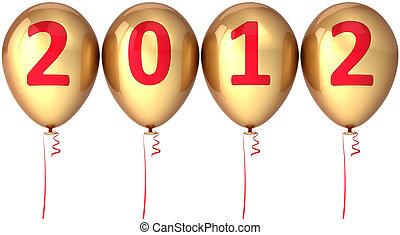 dourado, partido, ano, novo, balões, 2012