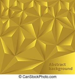 dourado, polygonal, fundo